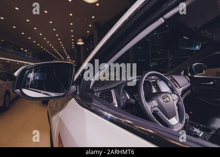 Ufa, Russia, 15 January 2020 A 2020 Toyota Highlander SUV - Stock Photo