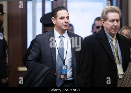 Washington, DC, USA. 28th Jan, 2020. January 28, 2020 - Washington, DC, United States: .TONY SAYEGH arriving for the Senate impeachment trial. Credit: Michael Brochstein/ZUMA Wire/Alamy Live News - Stock Photo