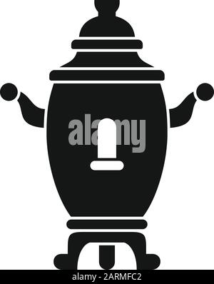 Russia samovar icon. Simple illustration of russia samovar vector icon for web design isolated on white background - Stock Photo
