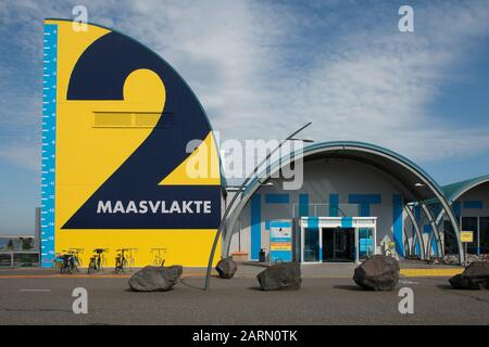 Netherlands, Rotterdam - July 30, 2019; Futureland the visitor centre for Maasvlakte 2, from which excursions take place to the port of Rotterdam and - Stock Photo