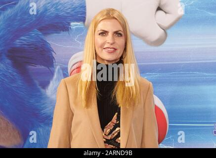 Berlin, Germany. 28th Jan, 2020. TV presenter Tanja Bülter comes to the premiere of the film 'Sonic The Hedgehog' at the Zoo Palast. Credit: Annette Riedl/dpa/Alamy Live News - Stock Photo