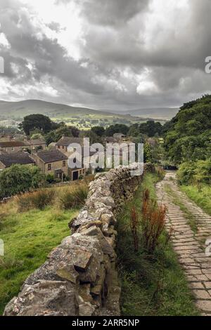 The tiny picturesque village of Sedbusk in Wensleydale, Yorkshire Dales National Park, England