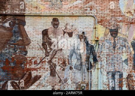 USA,Deep South,  Tennessee, Memphis, mural