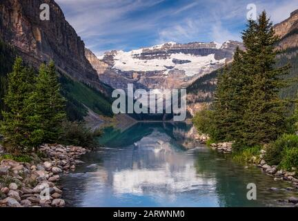 Lake Louise and The Victoria Glacier, Lake Louise, Banff National Park, Canadian Rockies, Canada