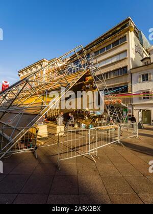 European Capital of Culture preparations before opening EPK 2020 Rijeka in Croatia - Stock Photo
