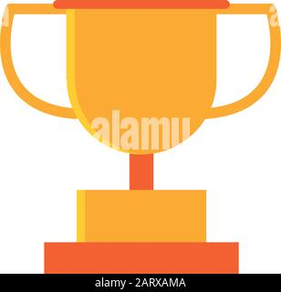 gold trophy award winner education school vector illustration icon design - Stock Photo