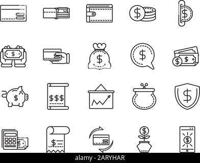 business cash money line design vector illustration - Stock Photo