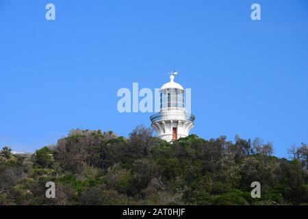 Sugarloaf point Lighthouse, Seal Rocks, Australia - Stock Photo