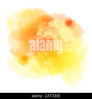 Abstract vector watercolor background. Colorful vector background with abstract watercolor paint - Stock Photo