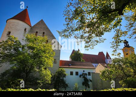 Neues Schloss Ingolstadt is a city in Bayern/Germany with many historical attractions - Stock Photo