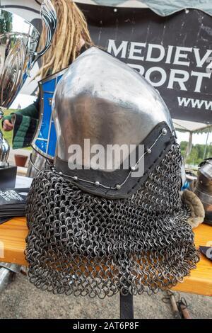 Medieval Combat Sport Event in Hämeenlinna Finland - Stock Photo