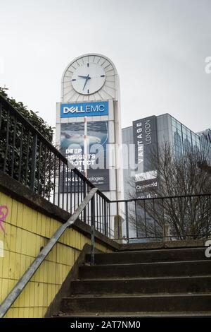 The iconic Dell Emc Tower, Great West Road, Brentford, London, TW8 - Stock Photo