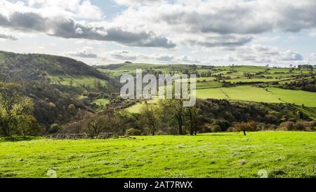 Manifold Valley, White Peak, Peak District National Park, Derbyshire, England - Stock Photo