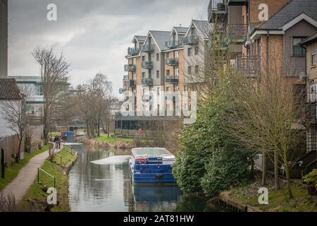 River Start, Bishops Stortford, Hertfordshire, UK - Stock Photo