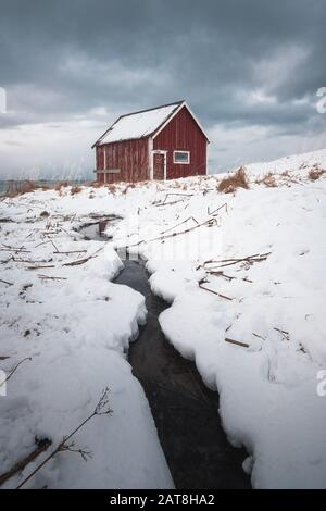 Winter pictures from Lofoten Islands. Norway