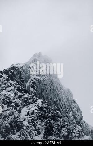 Winter pictures from Lofoten Islands. Norway - Stock Photo