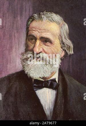 GIUSEPPE VERDI (1813-1901) Italian operatic composer about 1886 Stock Photo