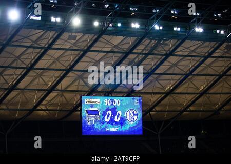 firo: 31.01.2020, Fuvuball, 1.Bundesliga, season 2019/2020, Hertha BSC Berlin - FC Schalke 04 The stadium board after the final whistle. Icon photo, detail   usage worldwide - Stock Photo