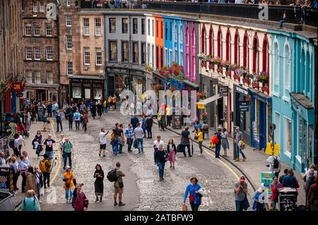 West Bow and Victoria street in Old Town. Edinburgh cityscape/travel photograph by Pep Masip.