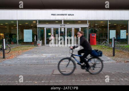 Free University of Berlin, rust bucket, Habelschwerdter Allee, Dahlem, Berlin, Germany / Freie Universitat, Freie University Berlin, FU Berlin, FUB - Stock Photo