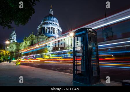 Long exposure outside St. Paul's Cathedral, London, UK