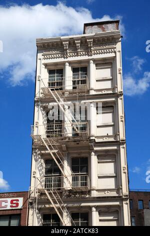 Loft Building, Tribeca, New York City, Manhattan, USA - Stock Photo