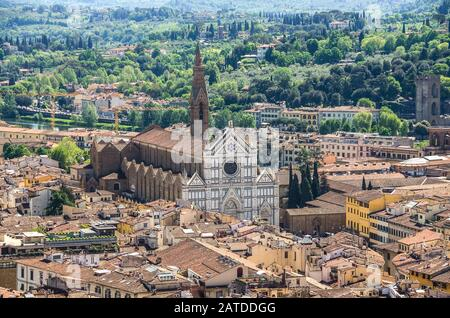 Great synagogue of florence top view at town blue mountains - Stock Photo
