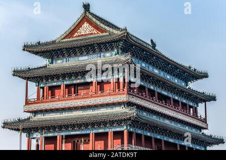 China, Beijing, Forbidden City Different design elements of the colorful buildings of the imperial palace.