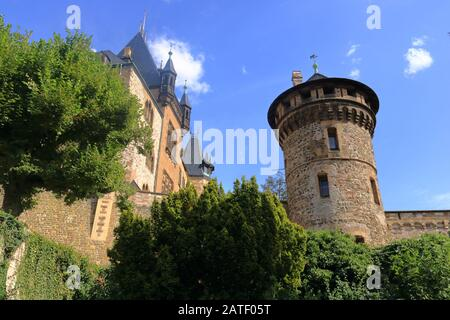 August 8 2018 - Wernigerode/Germany:: Wernigerode Castle in the Harz mountains, Germany - Stock Photo