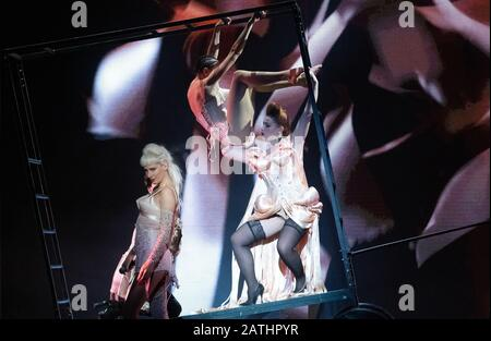 January 31, 2020. - Russia, Saint Petersburg. - FashionFreak Show theatre production staged by French fashion designer Jean Paul Gaultier at the Oktyabrsky Big Concert Hall.