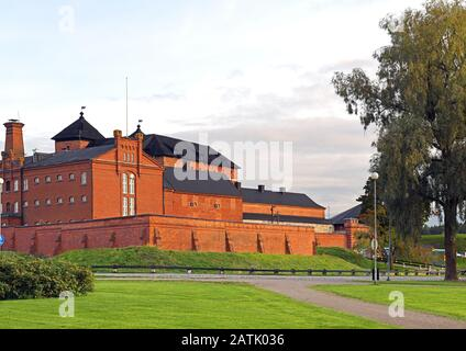 Famous medieval fortress and former prison in Hameenlinna, Suomi - Stock Photo