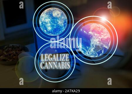 Handwriting text Legalize Cannabis. Conceptual photo law which legalized recreational cannabis use nationwide Elements of this image furnished by NASA
