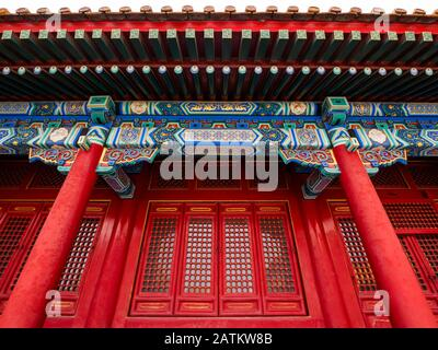 Richly decorated building in Hall of Supreme Harmony courtyard, Outer Court, Forbidden City, Beijing, China, Asia