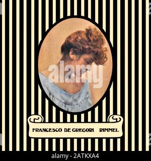 Francesco De Gregori original vinyl album cover - Rimmel - 1975 - Stock Photo