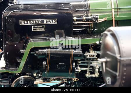 A model train of the evening star - Stock Photo