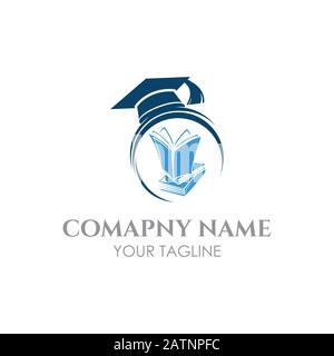Graduation cap and book isolated icon, Graduation cap and book icon illustration,eps 10 - Stock Photo