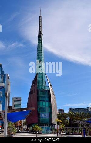 Perth, WA, Australia - November 27, 2017: The Bell Tower, landmark in the capital of Western Australia - Stock Photo