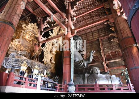 view of Nara Todai ji temple - Stock Photo