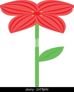 Mexican red flower icon, isometric style - Stock Photo
