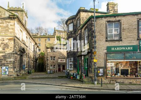 Sid's cafe, Holmfirth, West Yorkshire, UK, the location of Ivy's cafe as featured in Last of the Summer Wine, a BBC comedy. - Stock Photo