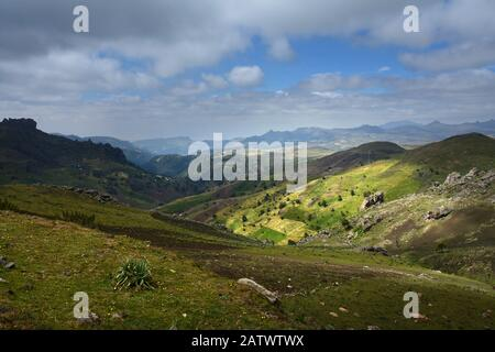 ethiopia bale mountains nationalpark - Stock Photo