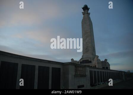 The Portsmouth Naval Memorial on Southsea Common, Portsmouth, Hampshire, England. - Stock Photo
