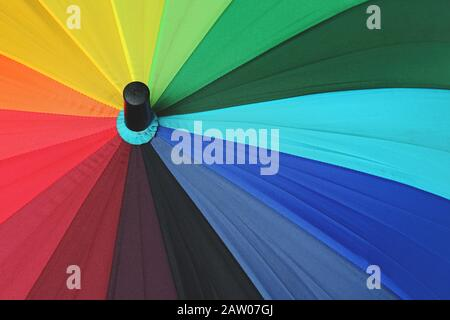 Abstract Minimalist Photography,top view of a colorful umbrella - Stock Photo