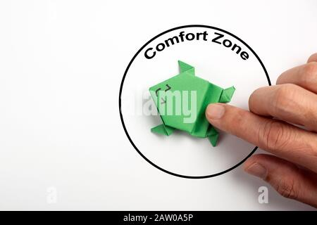 Step out from the comfort zone concept