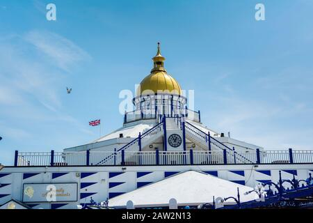 EASTBOURNE, EAST SUSSEX, UK - MAY 23 : View of Eastbourne pier in East Sussex on May 23, 2019 - Stock Photo