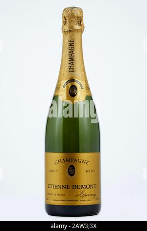 Bottle of Etienne Dumont Champagne - Stock Photo
