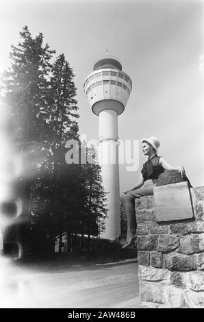 Finland  Puijo panorama tower with revolving restaurant in Kuopio Date: July 5, 1967 Location: Finland Keywords: panoramas, restaurants, towers Person Name: Finland, Kuopio - Stock Photo