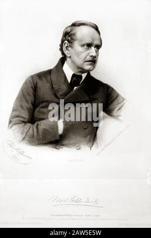 1856 ca. GERMANY : The German physician  Matthias Jakob Schleiden  ( 1804 - 1881 ),  botanist and co-founder of the cell theory  along with Theodor Sc - Stock Photo