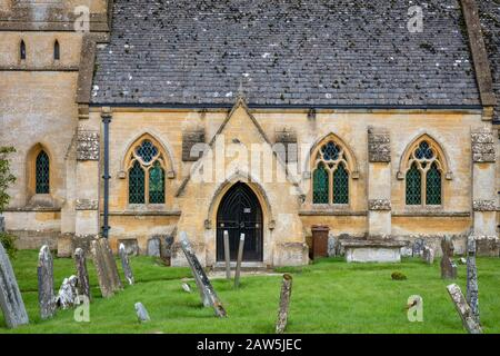Saint Barnabas Church in the Cotswolds town of Snowshill, Gloucestershire, England, UK - Stock Photo