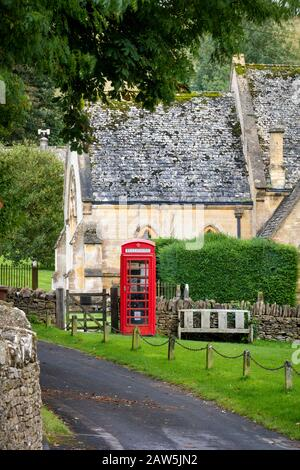 Saint Barnabas Church in the Cotswolds village of Snowshill, Gloucestershire, England, UK - Stock Photo